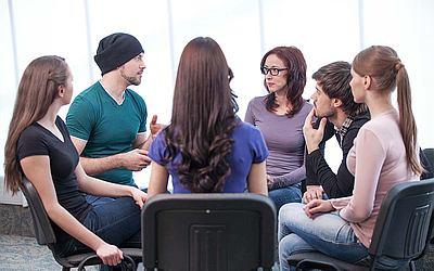 Участие в психотерапевтической группе - клиника Веримед